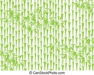 bamboo background - Illustration of green bamboo background...