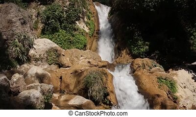 waterfall in deep forest of India, Reshikesh