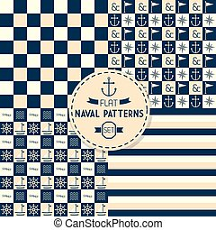 Abstract naval seamless pattern set - Abstract naval...