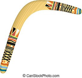 Boomerang isolated on white background Tribal style Vector...