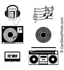 Music players and components vol 1 in black and white