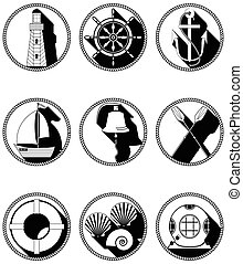 Nautical elements I icons