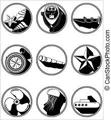 Nautical elements II icons