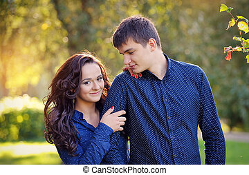 close up portrait of happy couple