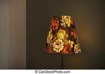 table lamp flower on bedroom