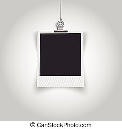 Empty polaroid frame - This image was made by Adobe...