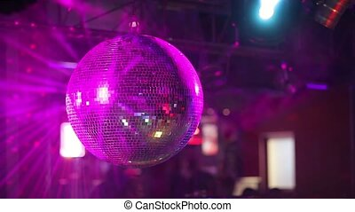 Mirror ball rolling in the night club.