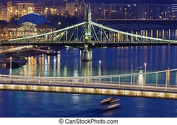 Liberty Bridge and Elisabeth Bridge