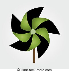 Vector illustration of pinwheel toy - Vector illustration of...