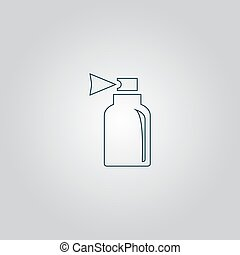 Spray icon - Spray. Flat web icon or sign isolated on grey...