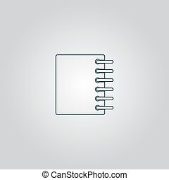 Ring binder calendar notepad - Vector icon isolated