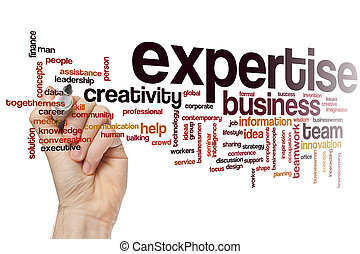 Expertise word cloud concept