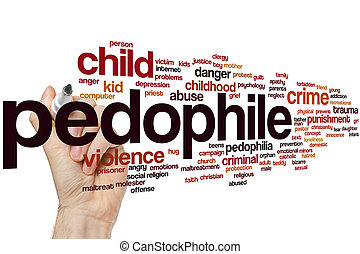 Pedophile word cloud concept