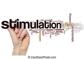 Stimulation word cloud concept