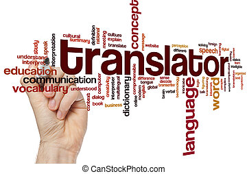 Translator word cloud concept