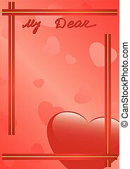 vector card - My dear
