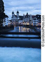 Jesuit Church and Reuss River - Jesuit Church and Reuss...