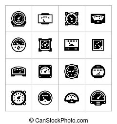Set icons of meter isolated on white
