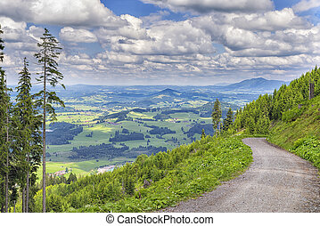 Landscape Allgaeu - Landscape on the mountain Alpspitz near...