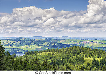 View to Allgaeu - View from the climb to the Alpspitz near...
