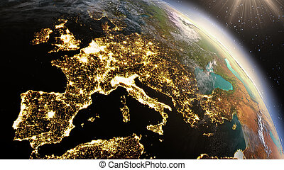 Planet Earth Europe zone Elements of this image furnished by...
