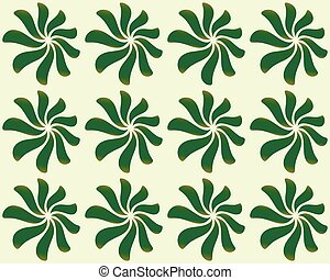 Repeatable background pattern with leaves, petal shapes...