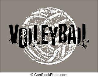 afligido, voleibol