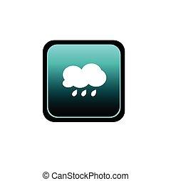 button of rain vector