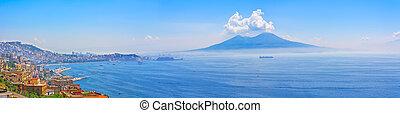 Mount Vesuvius and Naples panorama