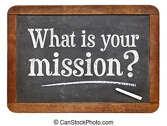 What is your mission question on blackboard