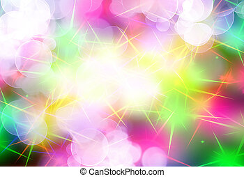 sparkles - rainbow sparkles on a soft pastel background