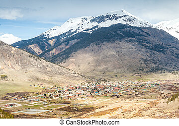 Silverton Panorama, Colorado, USA - Panorama of mountainous...