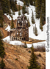 Old silver mine shaft