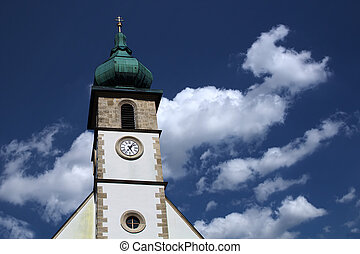 Church Spire - The image shows the church spire of the...