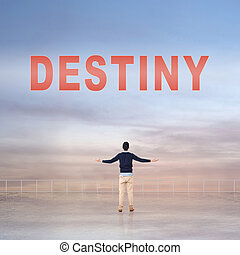 Destiny sign on the sky