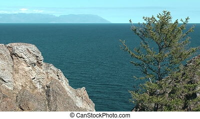 Baikal lake - Olkhon island on Baikal lake Cape Hoboi
