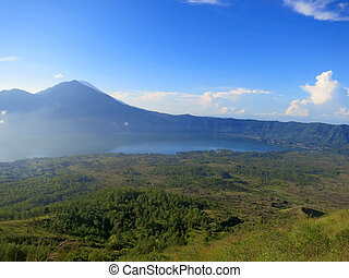 Morning on Batur volcano, Bali, Indonesia - Morning on Batur...