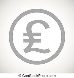 Grey pound sterling sign icon - Grey pound sterling symbol...