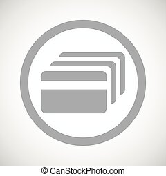 Grey credit card sign icon - Grey image of credit card in...