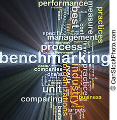 Benchmarking background concept glowing - Background concept...