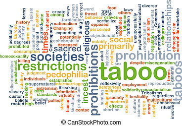 Taboo background concept - Background concept wordcloud...