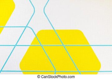regular geometric fabric texture yellow and white...