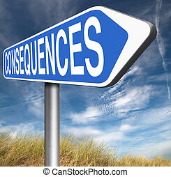 consequences facing facts and accept consequence of acts...