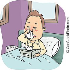 Man Bed Colds