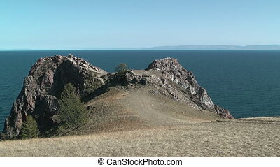 Baikal lake - Olkhon island on Baikal lake Cape Shunte