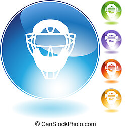Umpire Mask Helmet Crystal Icon - Umpire mask helmet crystal...