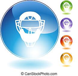 Umpire Mask Helmet Crystal Icon - Umpire mask helmet crystal...