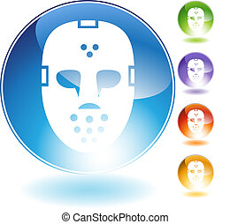 Hockey Mask Helmet Crystal Icon