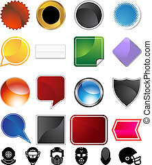 Helmet Variety Set - Helmet variety set isolated on a white...