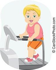 Senior Woman Treadmill